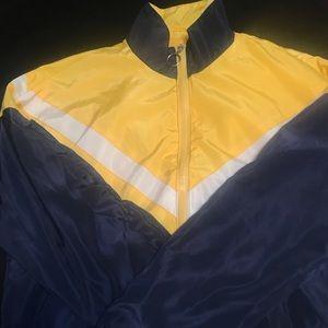 Blue and Black zip up jacket